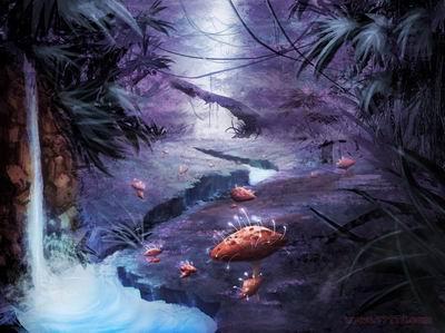 奇幻动态森林背景图