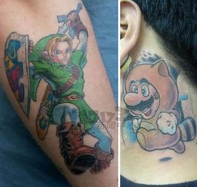 羡慕吗?瞧这些马里奥疯狂粉丝的纹身