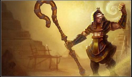 法老王朝-内瑟斯-沙漠帝国的王者 英雄联盟沙漠死神内瑟斯图片