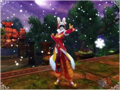 可爱的兔子装