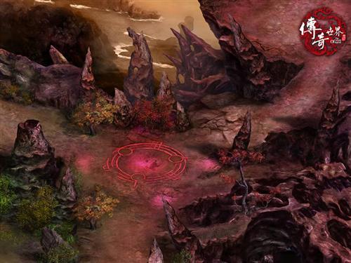 首次爆料《传奇世界2.0》妖异红色新地图