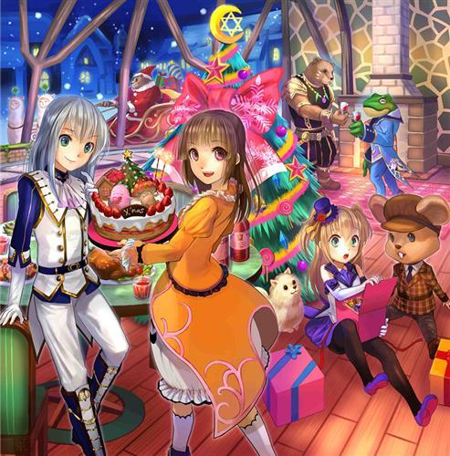 有日本著名插画师绘制的圣诞壁纸,有台湾玩家手绘的圣诞漫画,还有各地
