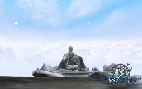 在雪中指点江山的老人