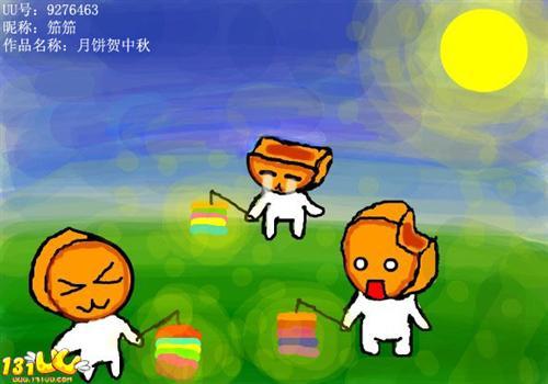 幼儿中秋节创意画