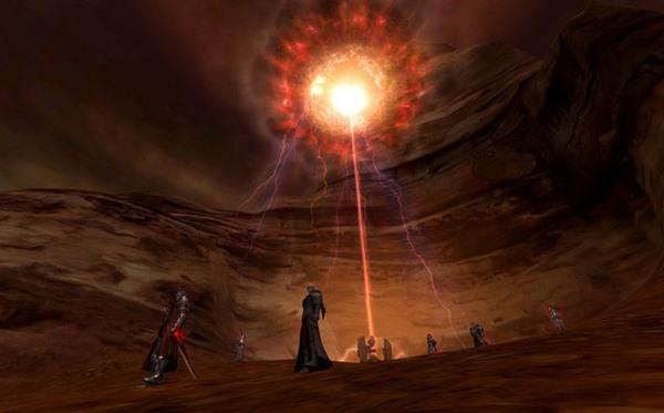 在第2神庙训练所的训练者中间,流传着一个奇怪的传闻。在打倒最后的对手扭曲空间的班克之后,生成了神秘的神庙的裂缝,在对其进行调查的过程中,不稳定的时空扭曲和空间裂缝发生了冲突,训练所中生成了连接天界、魔界和龙界的综合空间,通过它可以进入对方阵营地区。为了研究和利用综合空间,天界和魔界分别设立了极乐世界次元研究所/伏魔殿次元研究所,进而开发出了利用综合空间的技术,并开始在凯西内尔神庙训练所/马勒库坦神庙训练所中进行试验。天族的第一项任务是救出在魔族地区布鲁斯特豪宁迫降的格里芬之爪军团