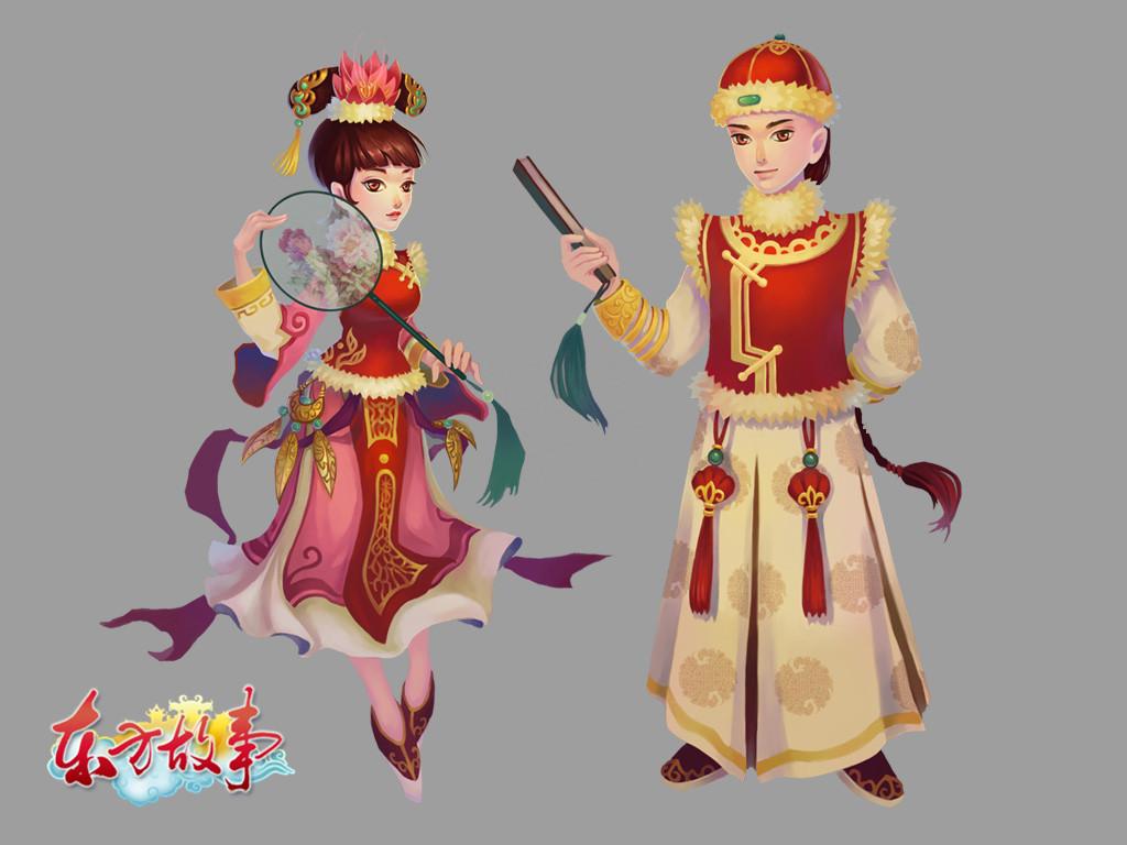 游戏原画-清宫人物图