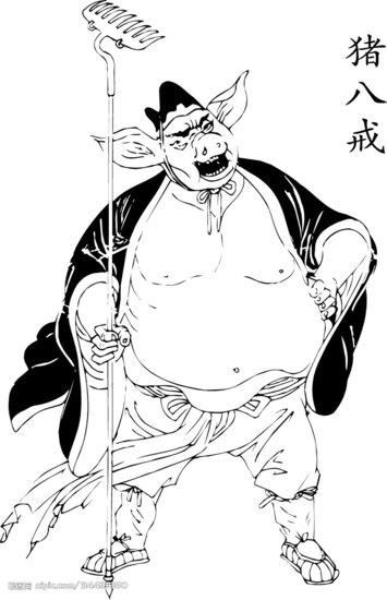 西游记猪八戒简笔画大全