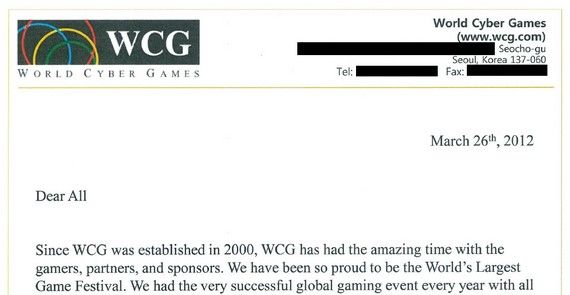 WCG总裁签字:WCG2012将由手机游戏取代PC游戏