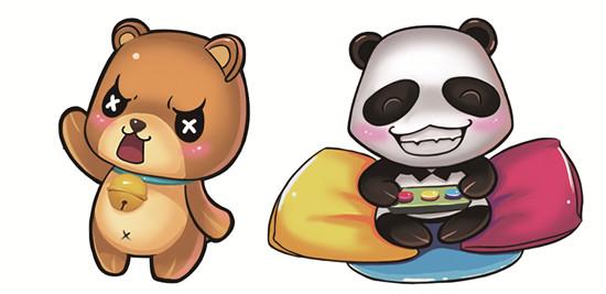 华立杯2012吉祥物乐熊与快猫