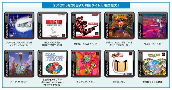 8月28日首波公布的强打PS1经典游戏(日本)