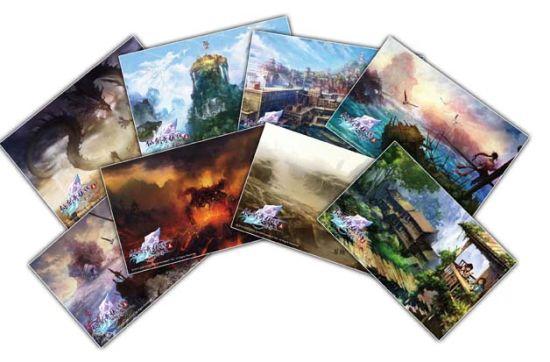 场景明信片,一组共八张,收录经典游戏场景