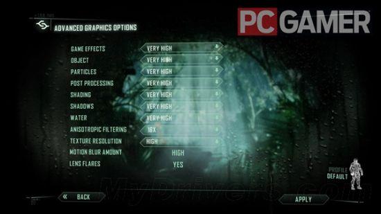 《孤岛危机3》PC版画面选项