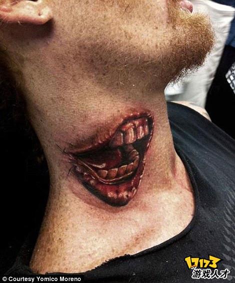 超级逼真的恐怖3d纹身
