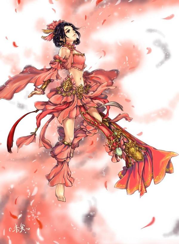 剑网3玩家手绘插画欣赏《南皇套七秀》