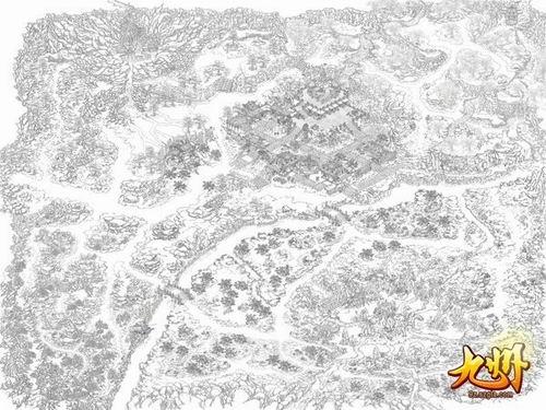 地图:神农谷线稿图