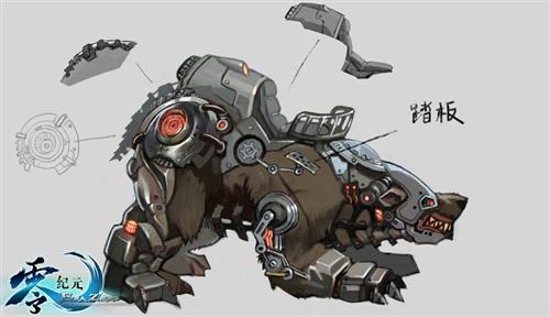 机械怪物和临时武器都是由蒸汽科技一手打造,它们充满另类的蒸汽风格图片