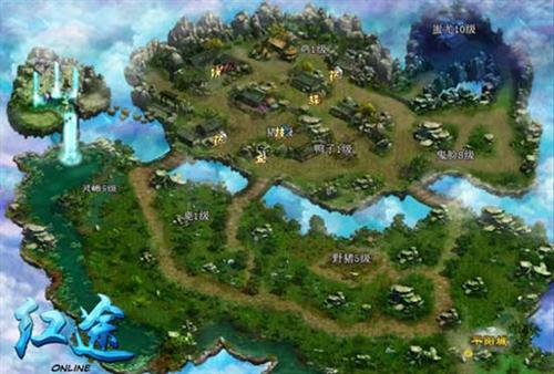 中原界美景 《红途ol》精美游戏地图欣赏