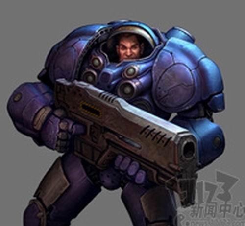 《星际争霸》的蓝色动力装甲