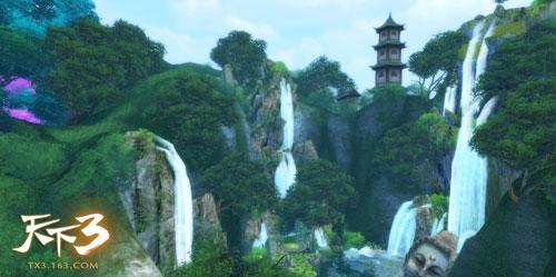 天下3风景《翠色江南 幻境桃溪》