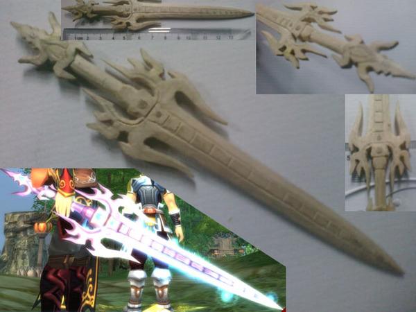 惊爆:手工木刻天下3里的武器