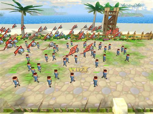 网页游戏3d塔防对战艾鲁战记最新图片