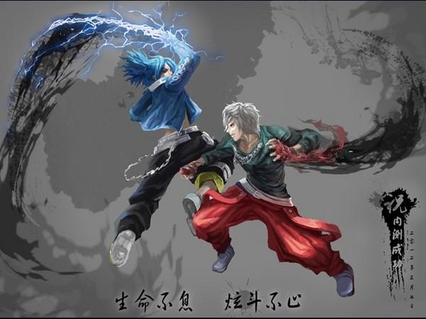 炫斗之王 布鲁与布雷泽的同人插画
