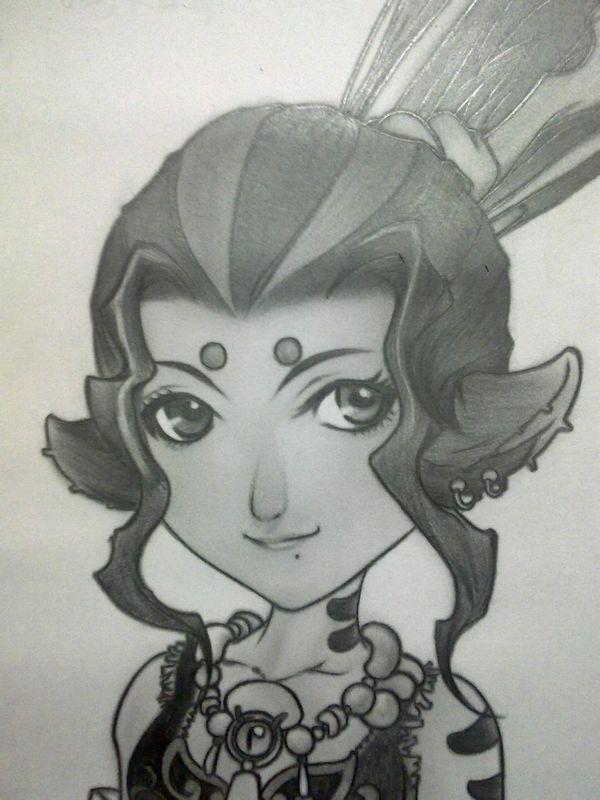 超级给力玩家,铅笔手绘梦幻西游12角色写真.