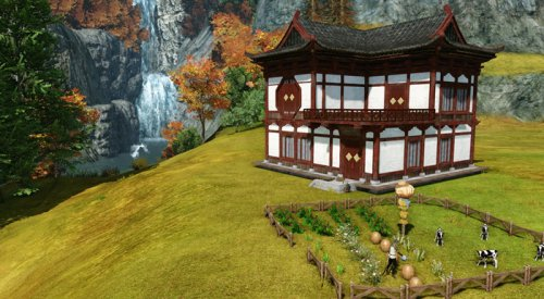 在房子旁边可以设定种养区,通过稻草人可以有效地防盗。通过点击动植物头顶上的蓝色叹号对其进行相交操作
