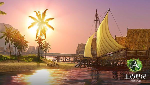 上古世纪游戏的光影特效很突出,而驾船航行等也严格遵守物理规律。