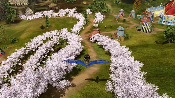 铺满整条道路的樱花