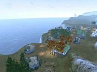 延时摄影下的上古黎明半岛风景