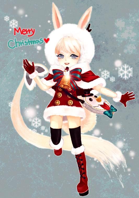 剑灵韩服同人手绘萌图第20期 圣诞快乐