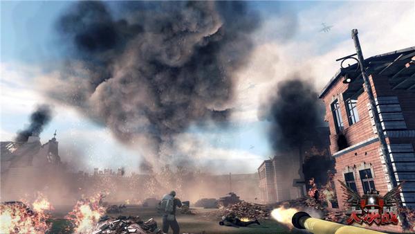 硝烟弥漫的大战场氛围