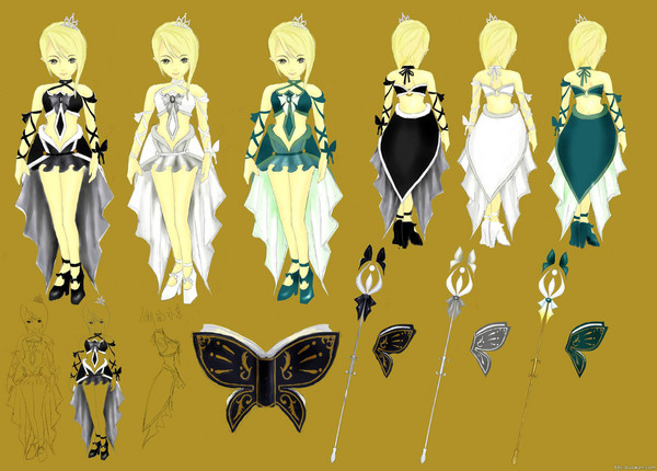 主打欧洲贵族风 玩家时装设计大赛作品