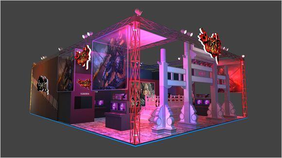 腾讯2013年TGC博彩娱乐展台 博彩娱乐展区图曝光