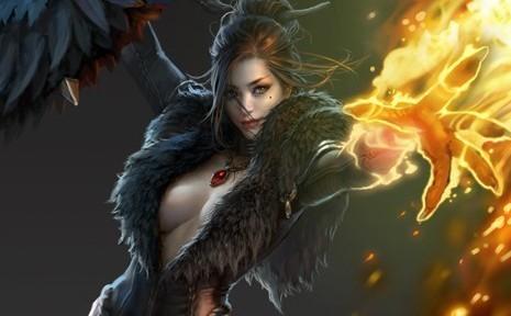 斗战神最新版桌面 黑衣御姐操纵的火焰法术