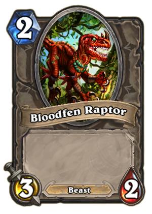 每日一牌介绍:血沼迅猛龙(Bloodfen Raptor)