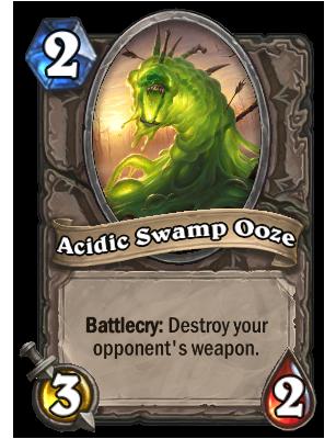 《炉石传说》每日一牌:酸性沼泽软泥怪(Acidic Swamp Ooze)