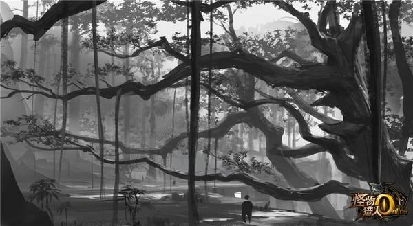 mho隐士之森原画 树荫笼罩的秘境