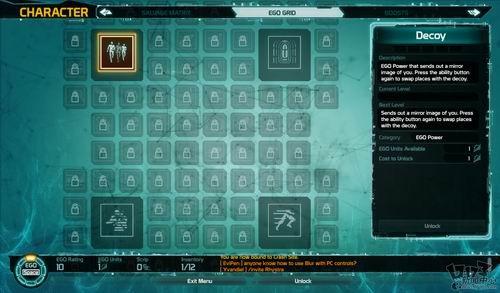 在技能网格矩阵面板中,每个职业的玩家拥有四个主动技能,以不法狂徒为