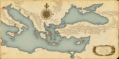 游戏内除了有完全符合史实的历史事件,服装,船只以外,整个世界的地图