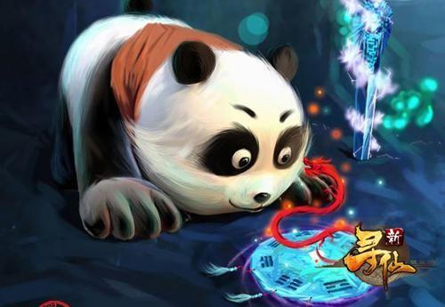 这幅来自玩家的手绘作品便以这只国宝熊猫作为主题,图中的熊猫人像一