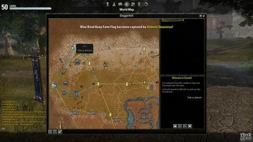 三阵营军团混战!动作有余战略不足   这次BETA测试最核心的玩法就是围绕赛罗迪尔地图的三阵营军团对战展开,这是一张非常庞大的无缝地图,永无止境的阵营据点争夺玩法(城堡、哨点、资源)以及老滚系列的操作模式,作者通过游戏里的采访,外国玩家纷纷表示非常类似《卡密洛特的黑暗时代》(Dark Age of Camelot)的RVR和《激战2》(GW2)里世界战场WVW。  三个势力的阵营积分和势力状况   战场里三方阵营会各自占据一部分区域的据点,玩家可以运用攻城道具展开据点攻防,据点数量会直接影响玩家的一些