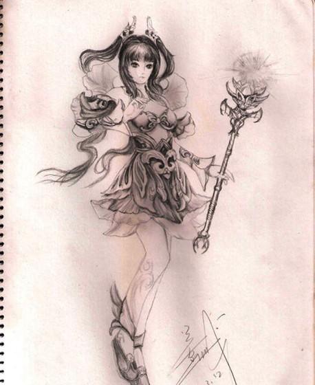 画画帝玩家纯铅笔手绘倩女幽魂各大角色,帅气美丽各擅胜场,你喜欢哪