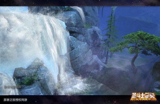 白银测试时期 庐山瀑布水花四溅 但水纹波动稍有欠缺