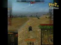 坦克世界T1中型坦克冲入敌阵,仅剩三滴血。。