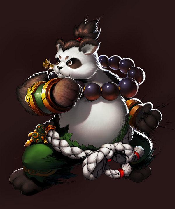 发型熊猫雕刻图片大全