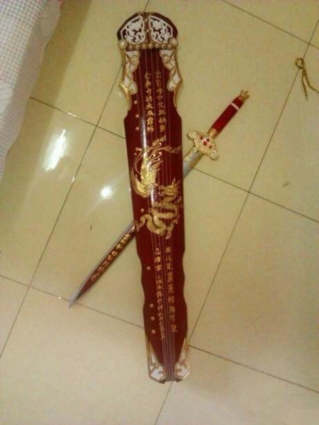 游龙戏凤剑鞘,九阴游龙戏凤剑,九阴琴中剑