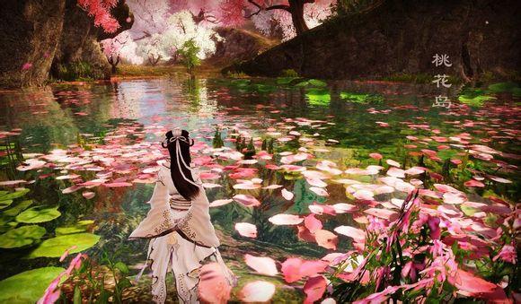 桃花风景优美图片