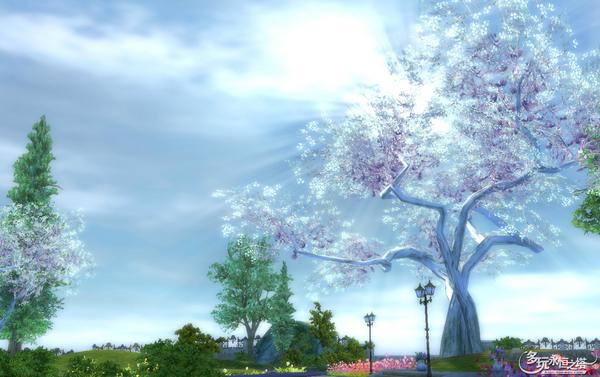 永恒之塔 主题图片 清新淡雅春日风 魔族住宅区风景第三弹 高清图片